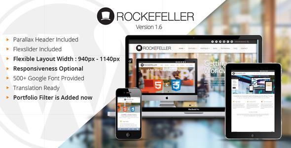 ThemeForest Rockefeller Flexible & Multipurpose WP Theme WordPress Corporate 3363476