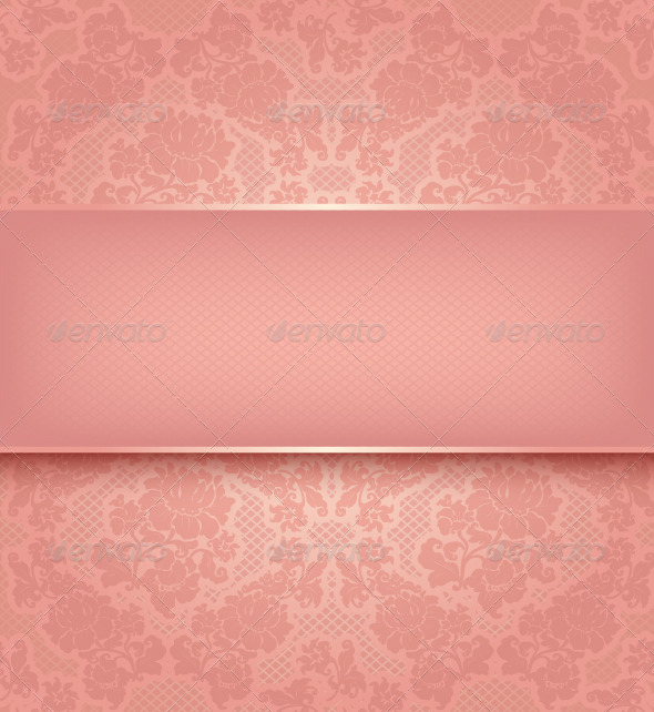 GraphicRiver Pink Floral Background 3552225
