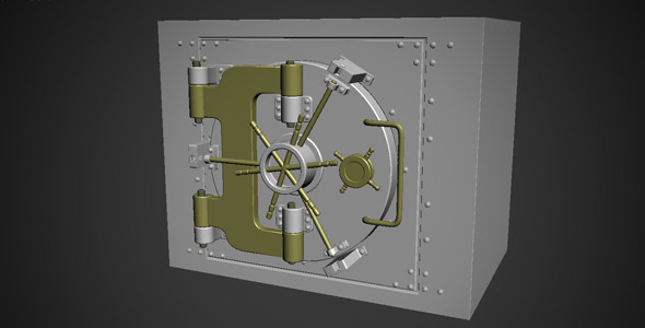 3DOcean Steel Safe Model 3552363