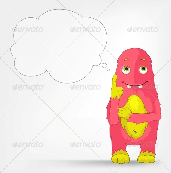 GraphicRiver Funny Monster Thinking 3552401