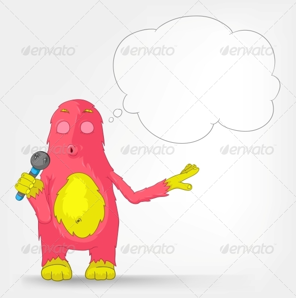 GraphicRiver Funny Monster Singing 3552428