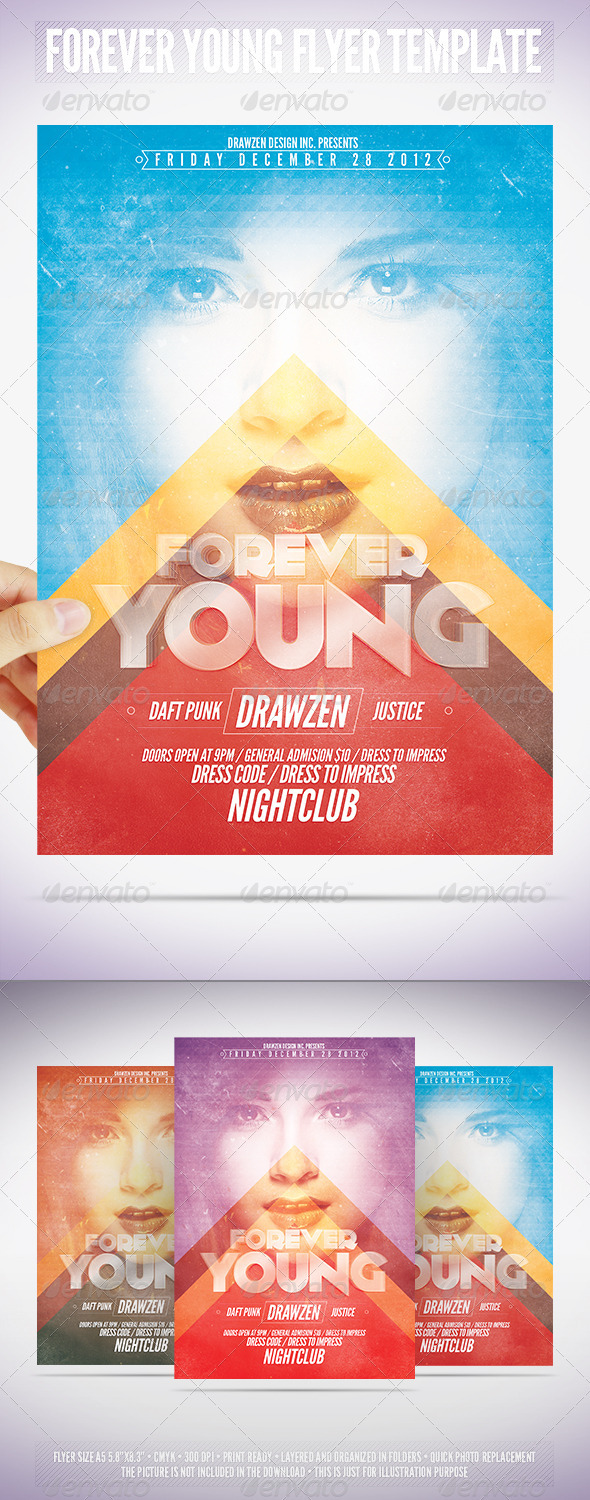 GraphicRiver Forever Young Flyer Template 3552430