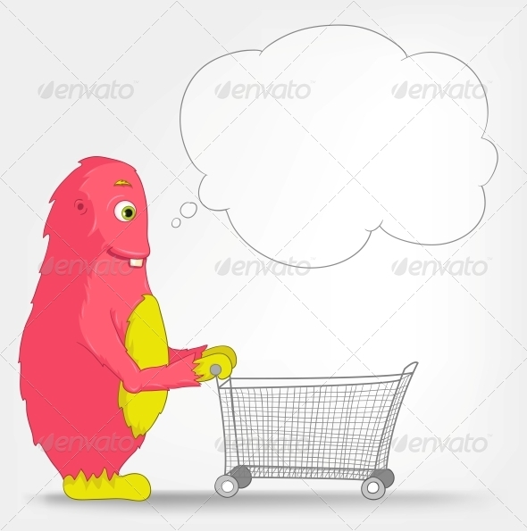 GraphicRiver Funny Monster Shopping 3552438