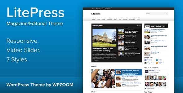 ThemeForest LitePress Responsive Magazine WordPress Theme 3552444