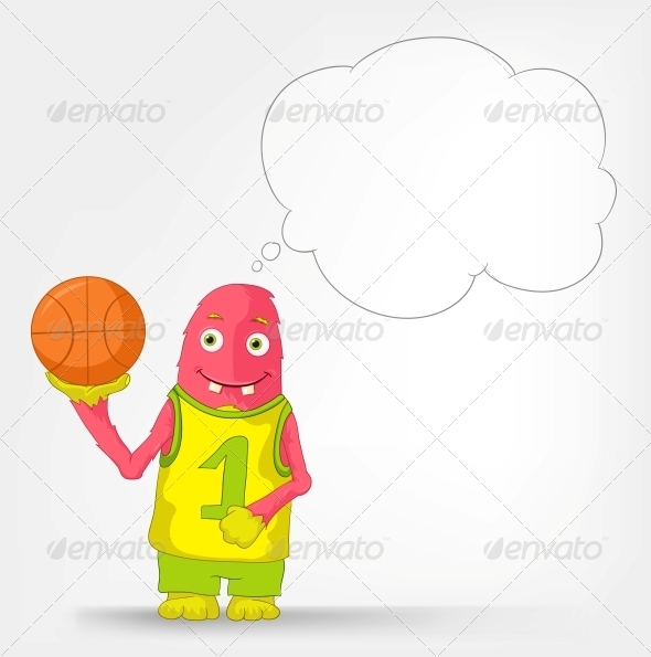 GraphicRiver Funny Monster Basketball 3552467
