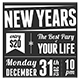 2013 Retro New Years Eve Party Invitation  - GraphicRiver Item for Sale