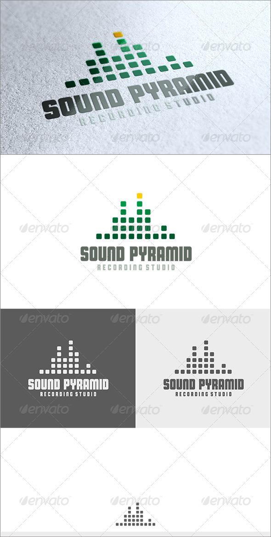 GraphicRiver Sound Pyramid Logo 3552590