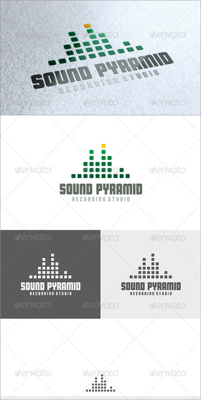 Sound Pyramid Logo - Symbols Logo Templates