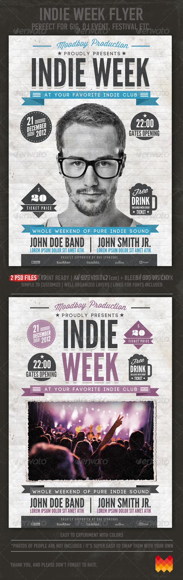 GraphicRiver Indie Week Flyer Poster 3552627