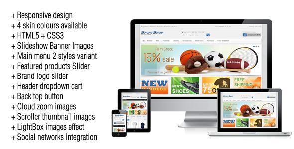 ThemeForest SportShop Responsive Magento Theme 3510286