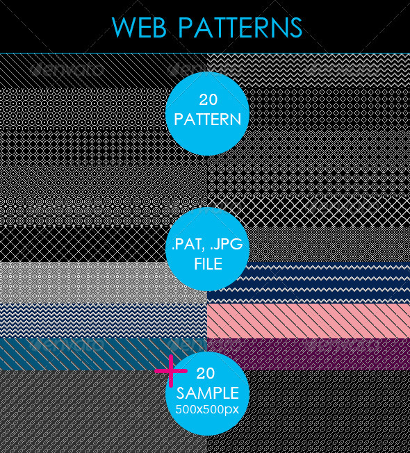 GraphicRiver Web Patterns 3552745