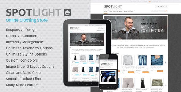 ThemeForest Spotlight Responsive Drupal 7 eCommerce Theme 2721249