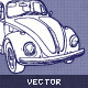 Hand Drawn Retro Car - GraphicRiver Item for Sale