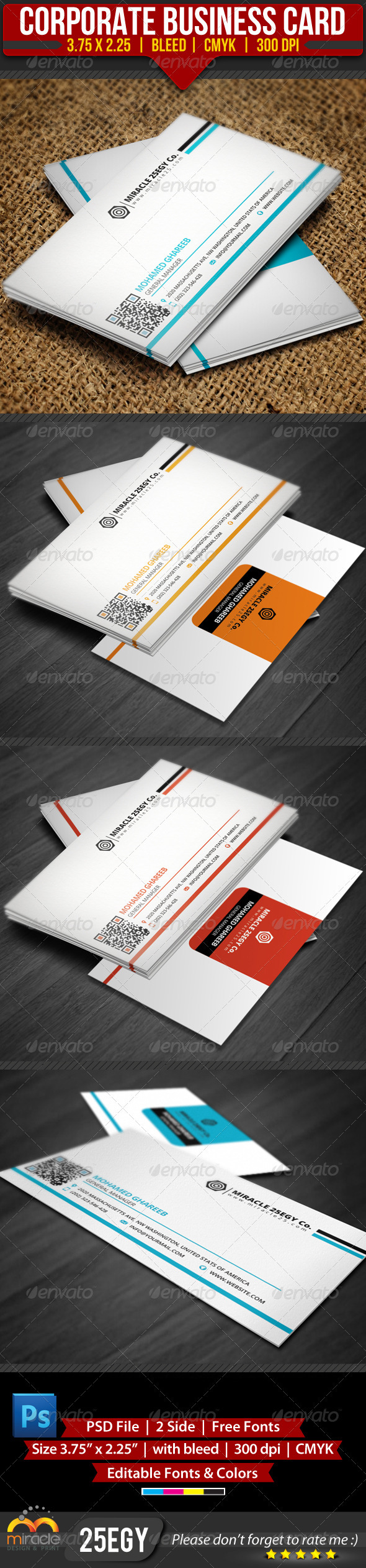 GraphicRiver Corporate Business Card 3553366