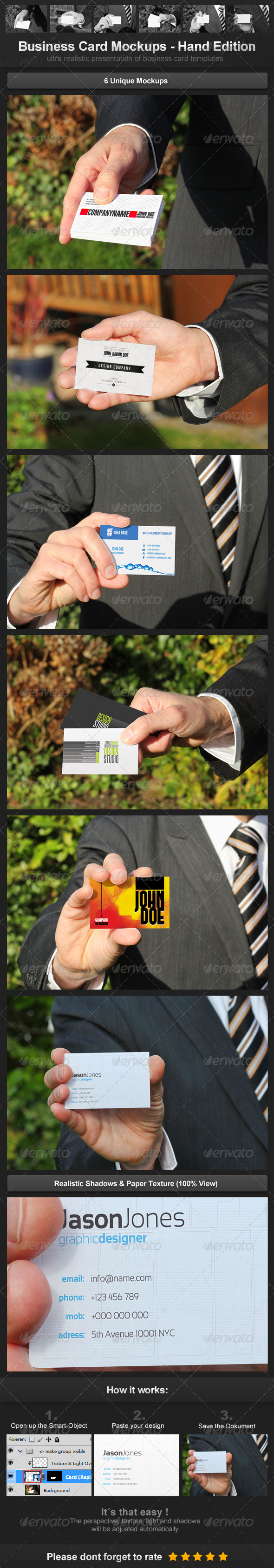 GraphicRiver Business Card Mockups Hand Edition 3553404