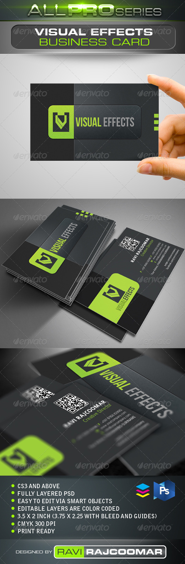 Visual Effects Business Card - Creative Business Cards