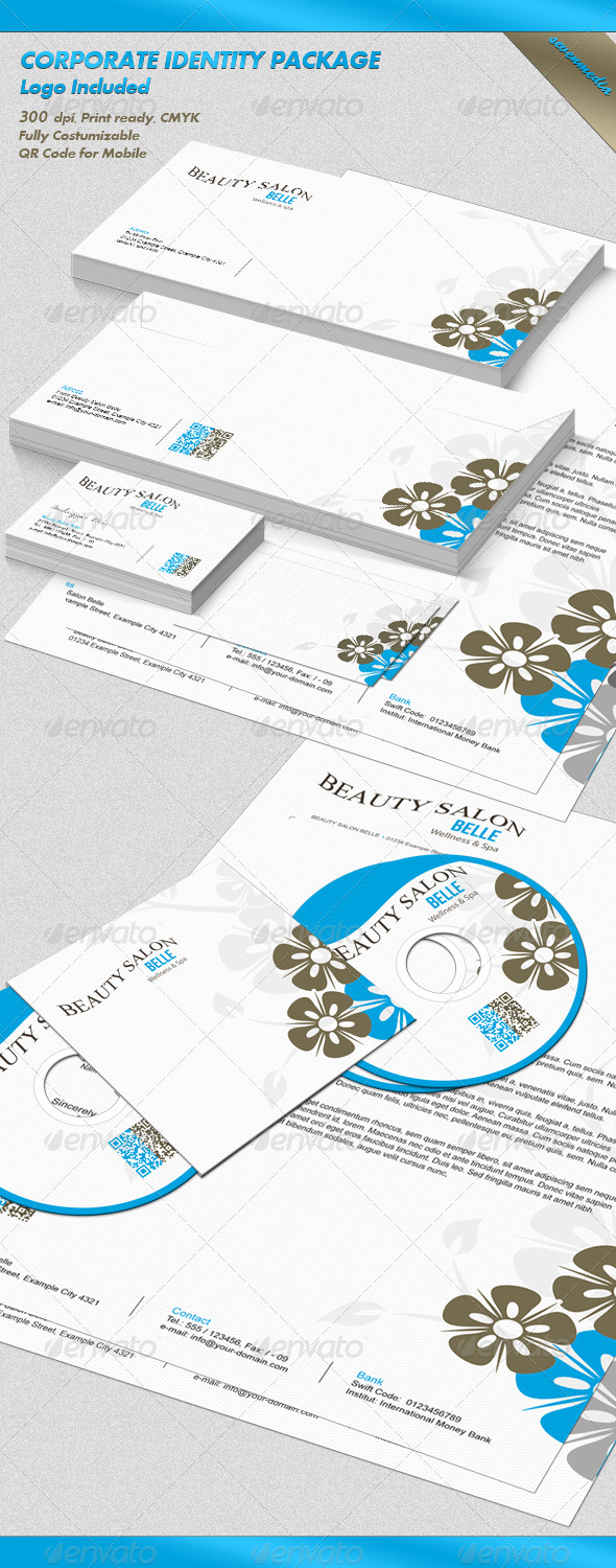 GraphicRiver Belle Corporate Identity Package 3554413