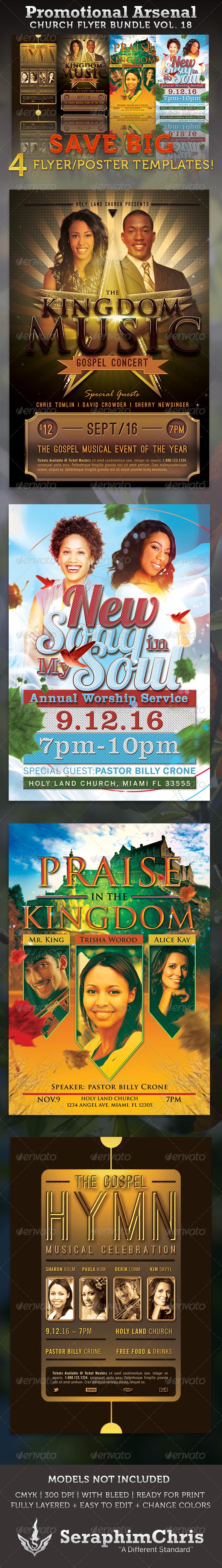 GraphicRiver Promotional Arsenal Church Flyer Bundle 18 3554626
