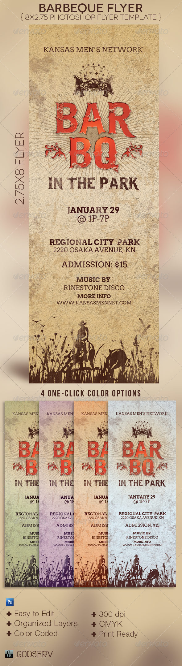 GraphicRiver BarBeQue Flyer Template 3554719