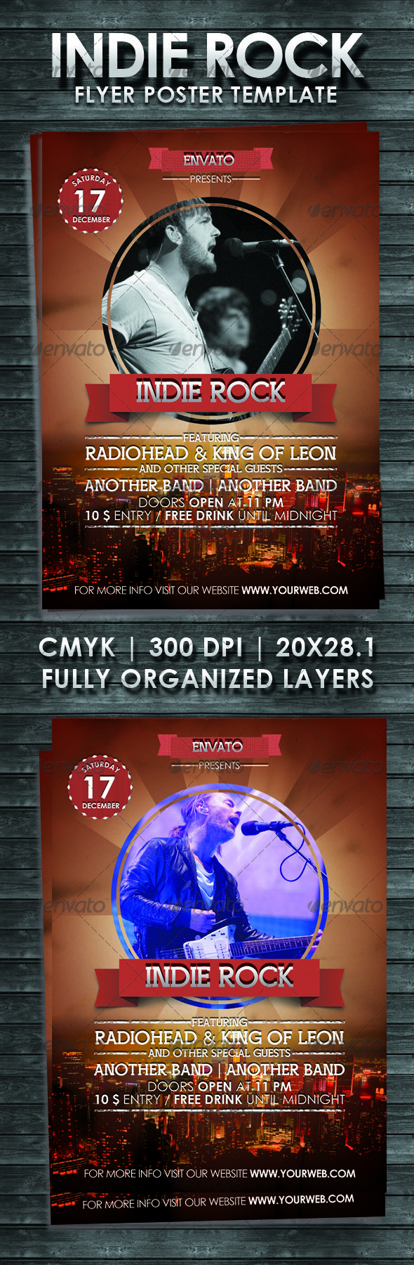 GraphicRiver Indie Rock Flyer Poster Template 3516816