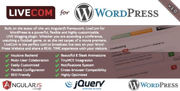 CodeCanyon LiveCom for WordPress A Live Blogging Plugin 3554732
