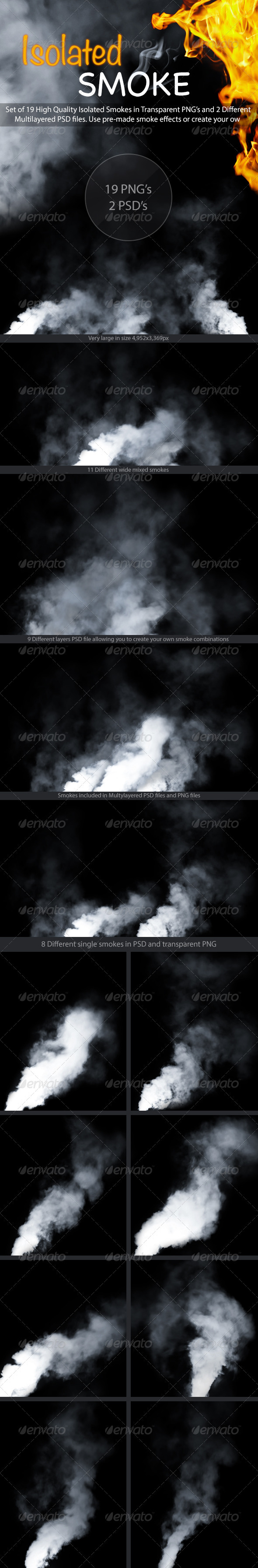 GraphicRiver Isolated Smoke 3554931