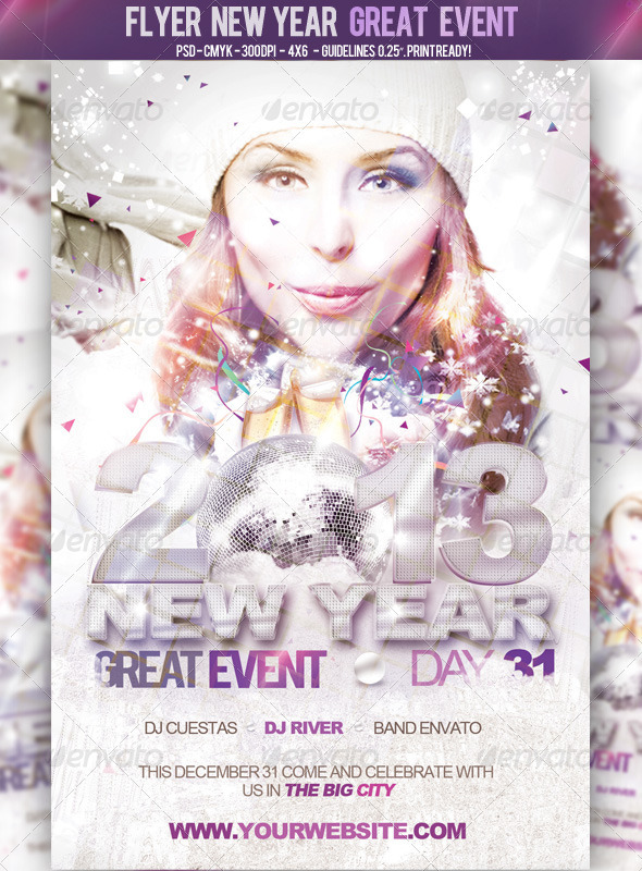 Flyer New Year Great Event - Events Flyers