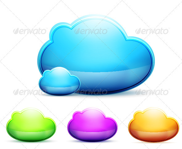 GraphicRiver Shiny Vector Clouds 3509725