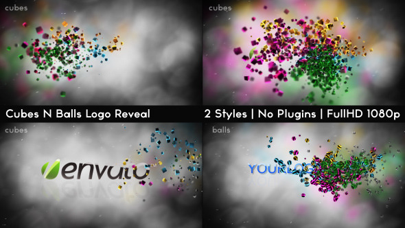 VideoHive Cubes N Balls Reveal 3555353