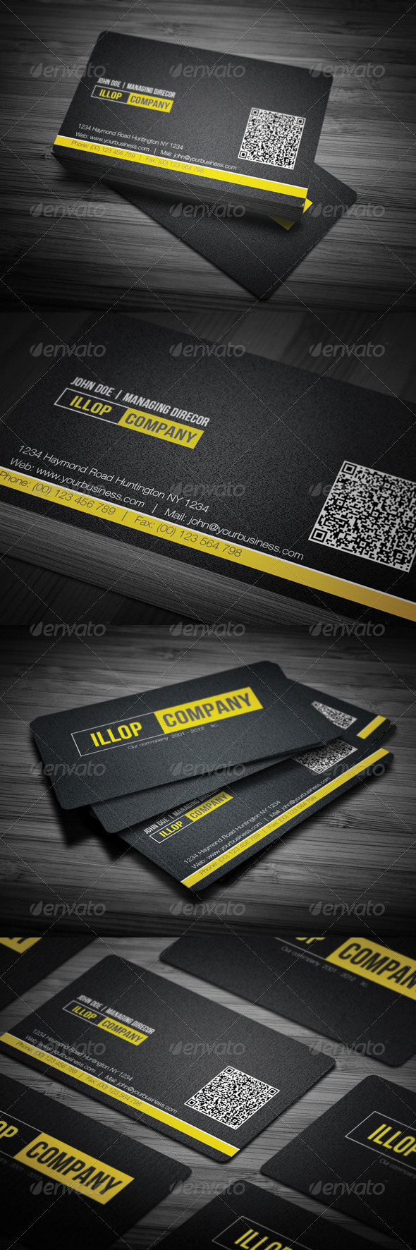 GraphicRiver Black Corporate Business Card 3555679