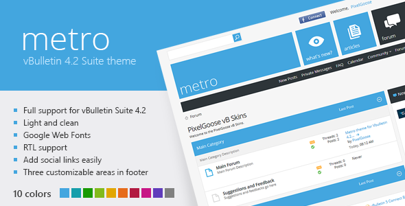 ThemeForest Metro A Theme for vBulletin 4.2 Suite 3555714