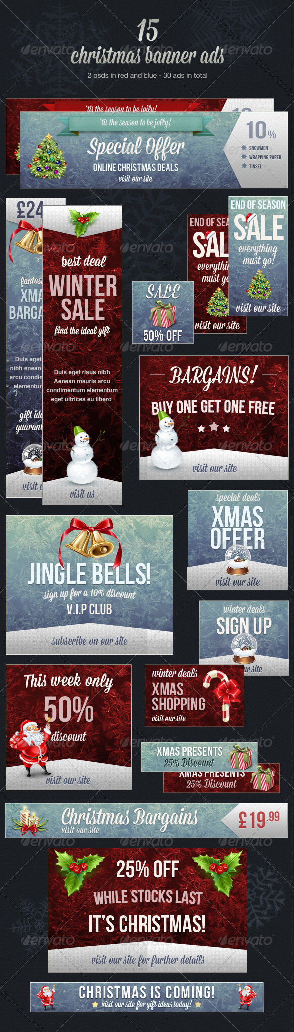 GraphicRiver Christmas Web Banner Ads 3556268