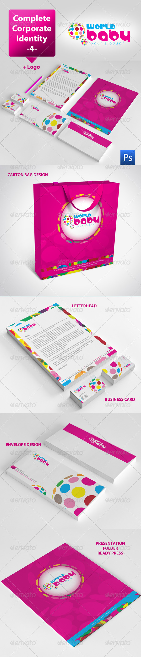 GraphicRiver World Baby Corporate Identity Package 3556465