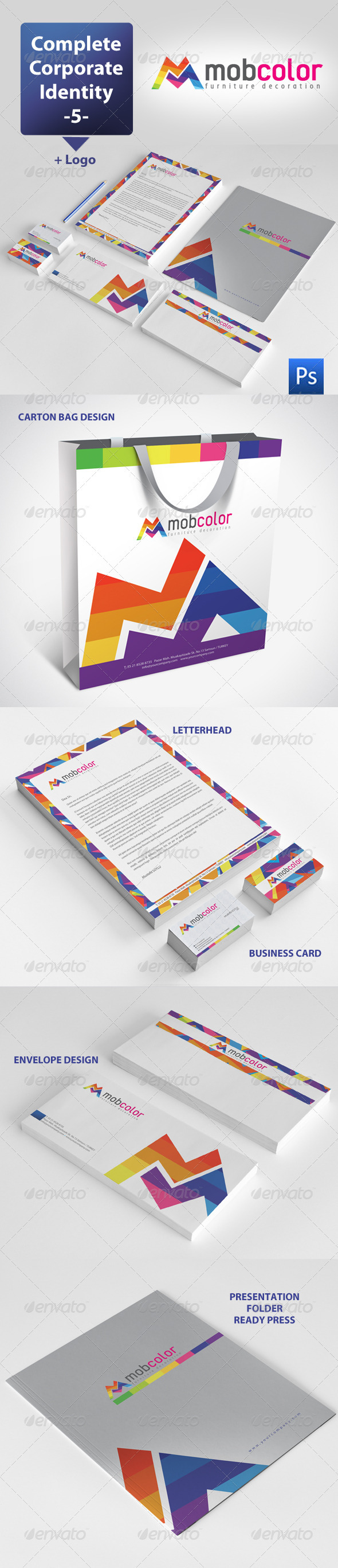 GraphicRiver Mobcolor Corporate Identity Package 3557272