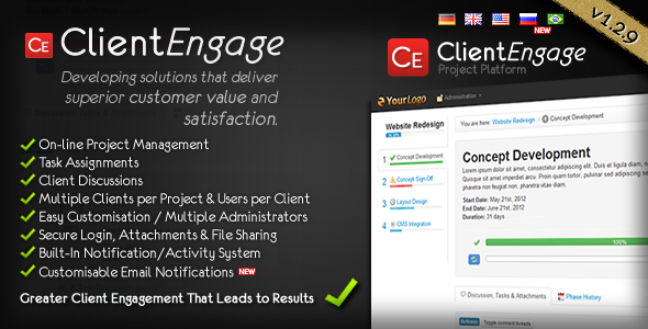 CodeCanyon ClientEngage Project Platform 2658050