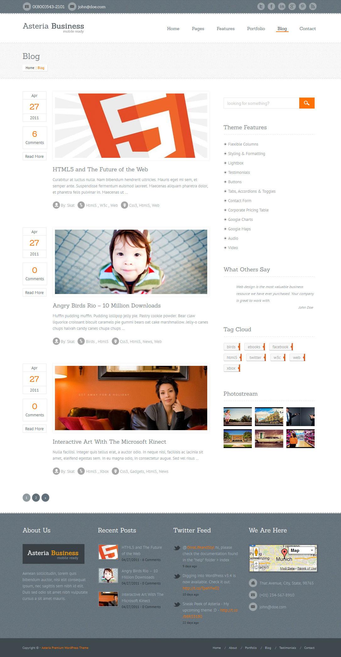Asteria - Responsive Business WordPress Theme