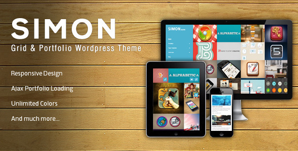 ThemeForest Simon Wordpress & Portfolio Theme 3236529