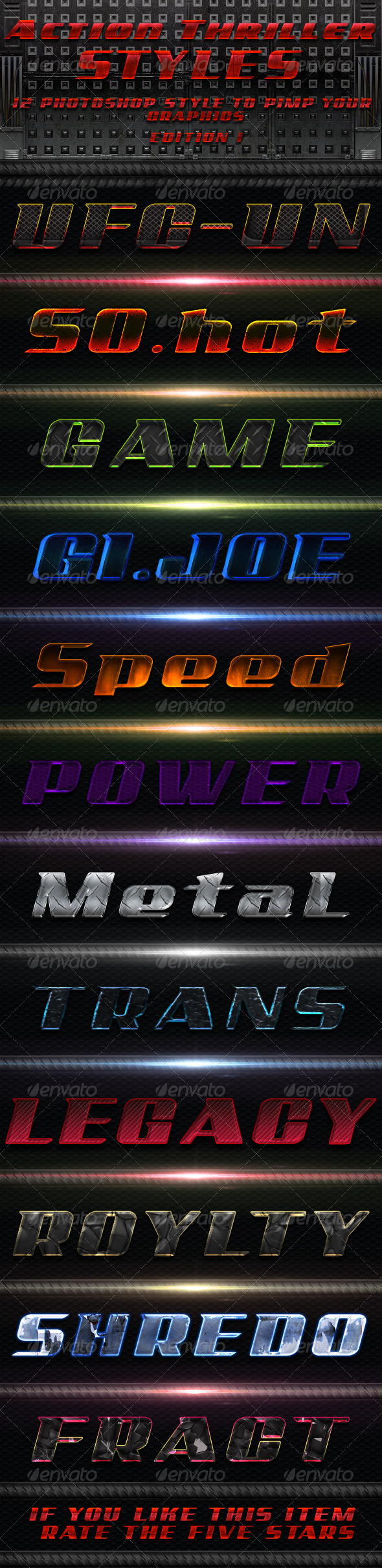 Action Thriller Styles - Text Effects Styles