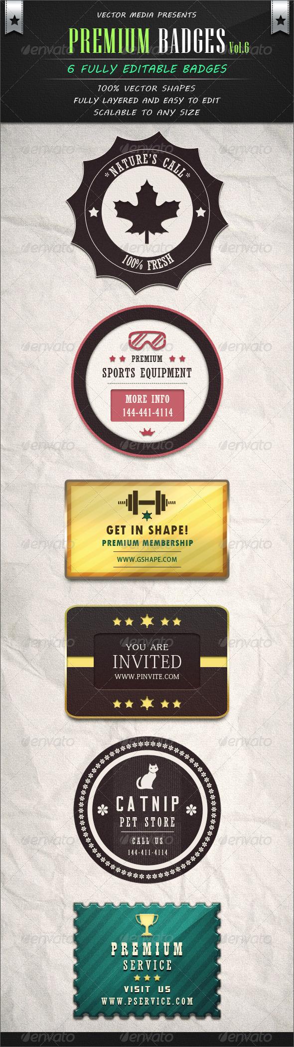 Premium Badges - Vol.6 - Badges & Stickers Web Elements