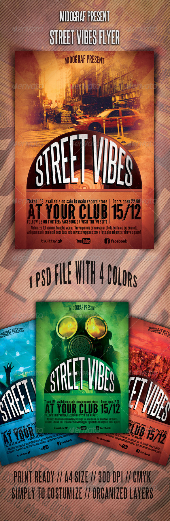 GraphicRiver Street Vibes Flyer 3559008