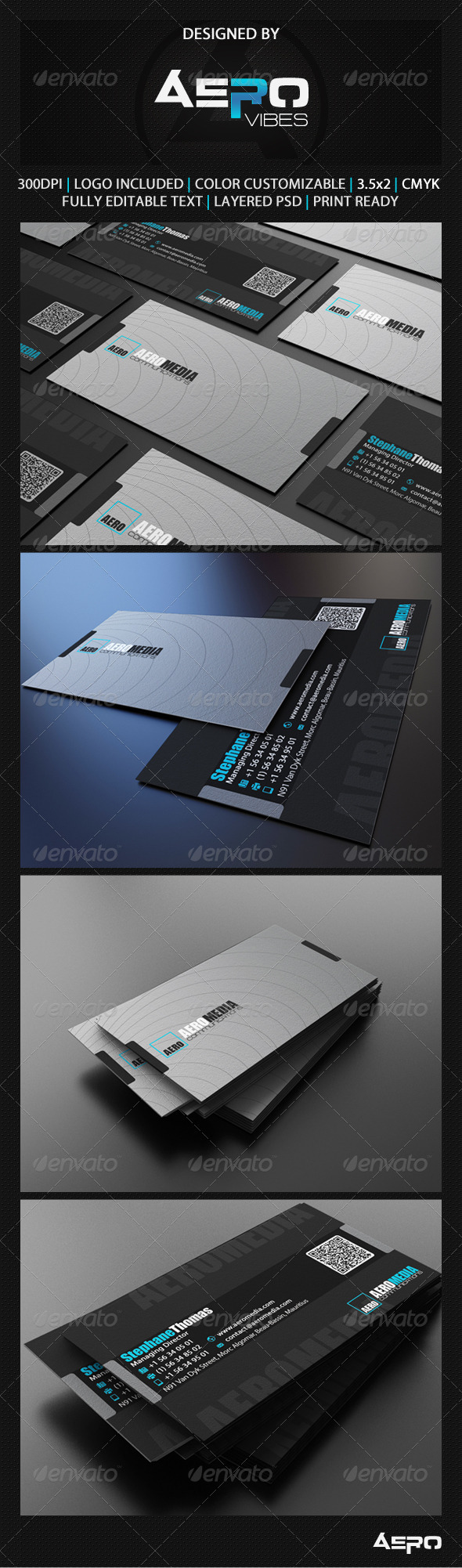GraphicRiver Grey Business Card 3559175