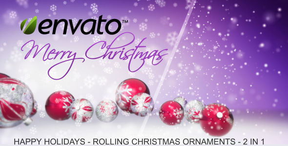 VideoHive Happy Holidays Rolling Christmas Ornaments 3559176