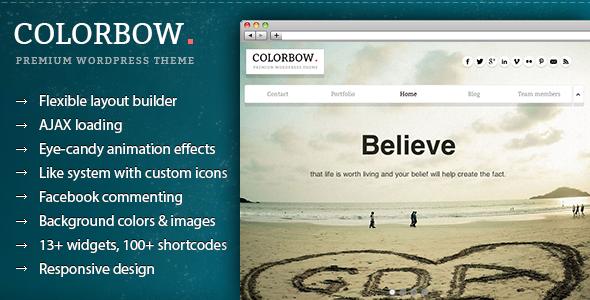 Colorbow - A Onepage Creative Portfolio Theme