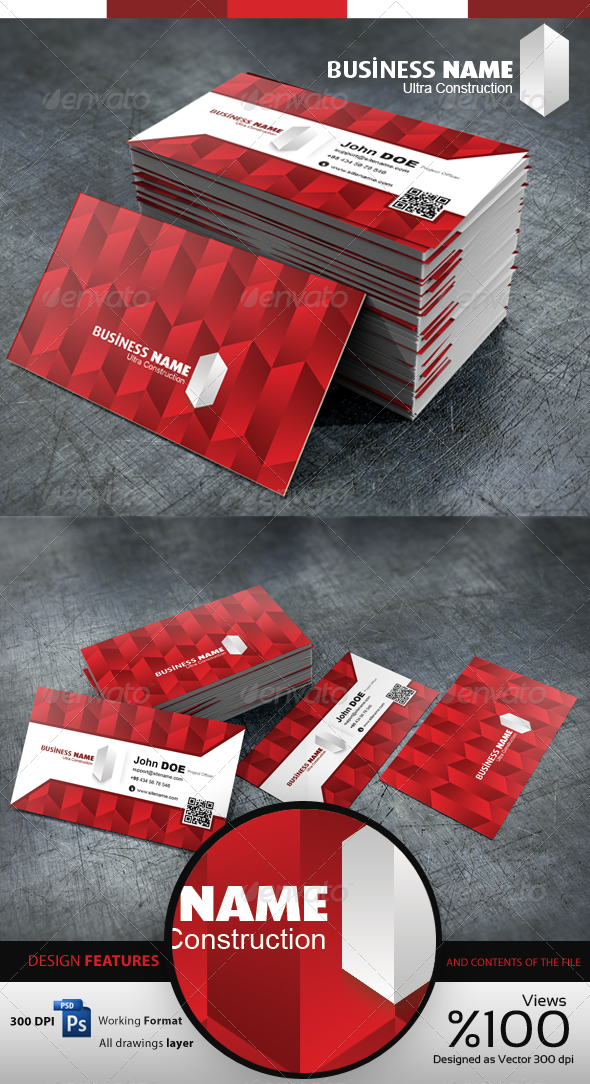GraphicRiver Construction Business Cardvisid 3560142