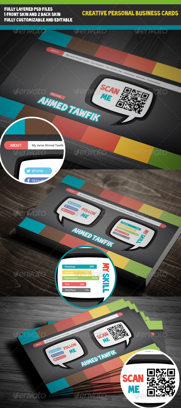 GraphicRiver Creative Personal Business Cards 3560656