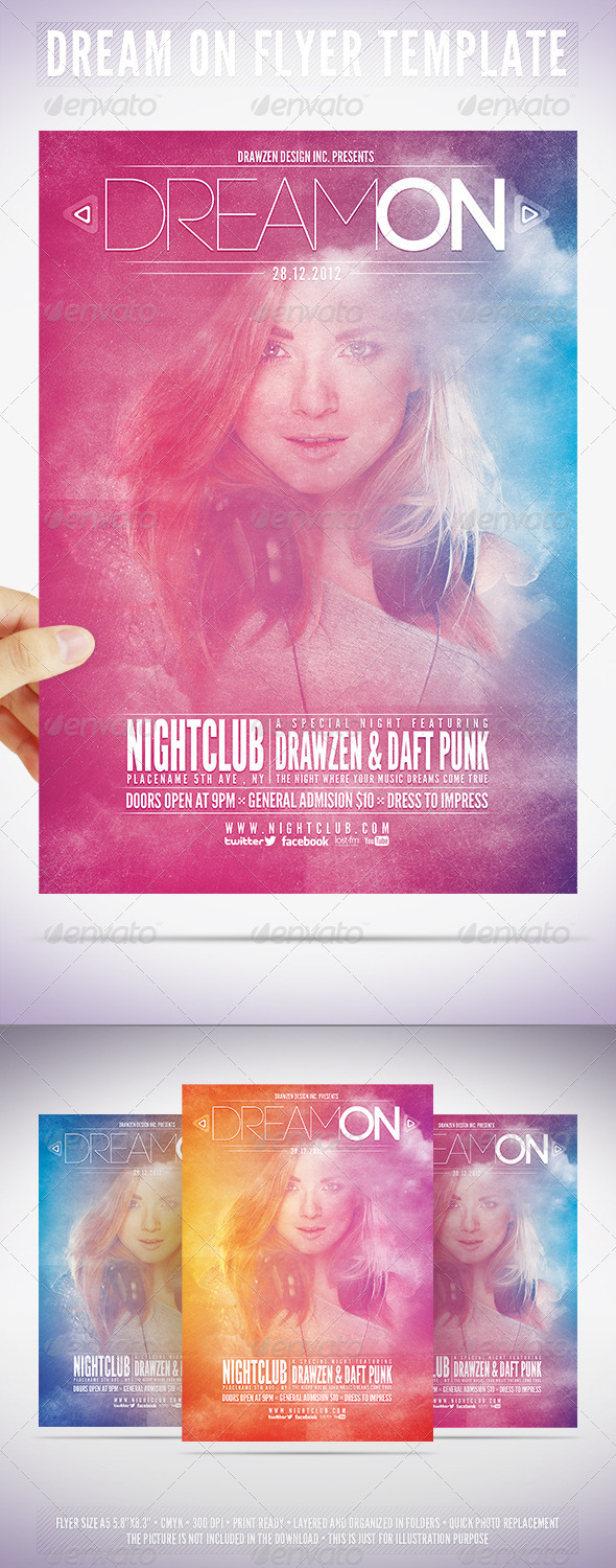 GraphicRiver Dream On Flyer Template 3560730