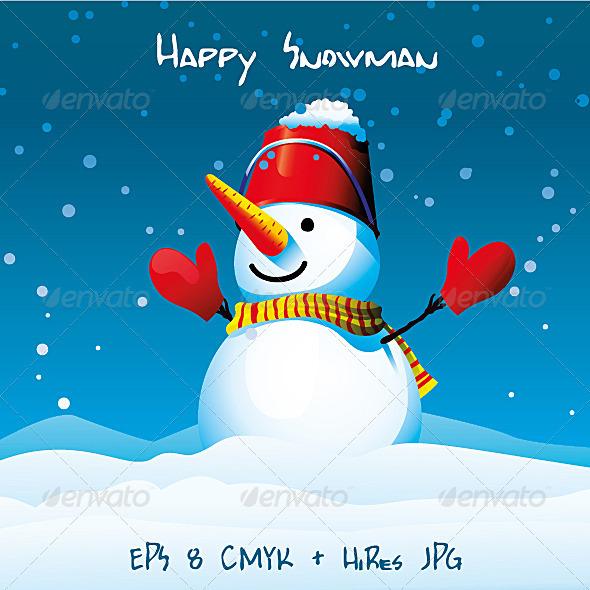GraphicRiver Happy Snowman 3560872