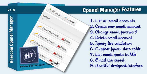 CodeCanyon Cpanel Email Manager 3540880