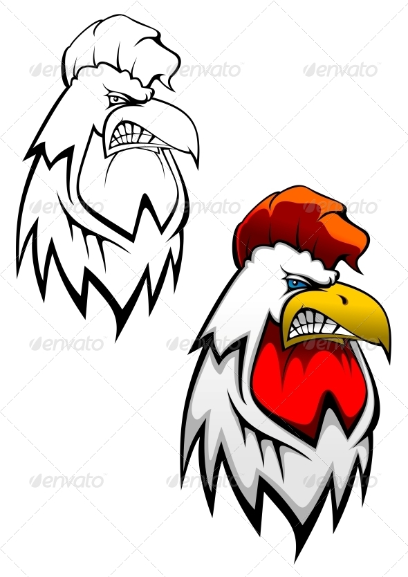 GraphicRiver Rooster Head Tattoo 3561122