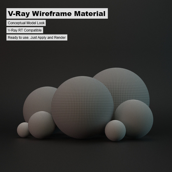 V-Ray Wireframe Material - 3DOcean Item for Sale